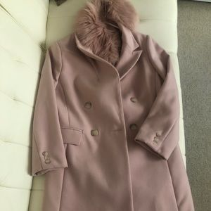 Pale Pink Topshop Coat